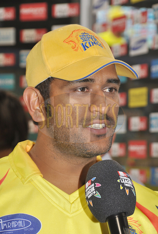 MS Dhoni, Captain of the Chennai Super Kings  during match 3 of the Airtel CLT20 between The Chennai Superkings and the Central Stags held at Kingsmead Stadium in Durban on the 11 September 2010..Photo by: Geoff Brink/SPORTZPICS/CLT20.