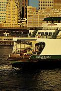 Image of Washington State Ferry from Seattle to Bainbridge Island, Puget Sound, Washington, Pacific Northwest