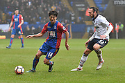 Crystal Palace Midfielder on his return to the Macron Stadium, Lee Chung-Yong  (14) during the The FA Cup 3rd round match between Bolton Wanderers and Crystal Palace at the Macron Stadium, Bolton, England on 7 January 2017. Photo by Mark Pollitt.