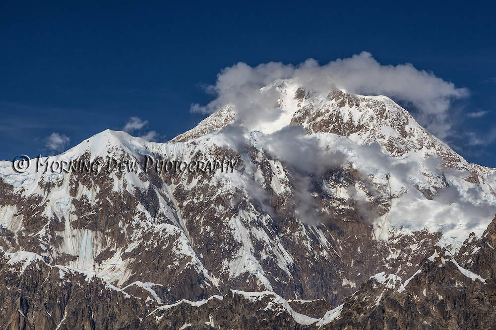 Aerial view of the summit of Mt McKinley, Denali National Park, Anchorage