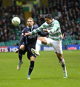 Dundee's Martin Boyle and Celtic's Emilio Izaguirre - Celtic v Dundee, SPFL Premiership at Celtic Park<br /> <br />  - © David Young - www.davidyoungphoto.co.uk - email: davidyoungphoto@gmail.com