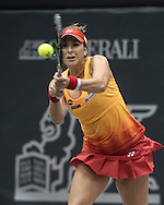 Belinda Bencic (SUI) on Day Three of the WTA Generali Ladies Linz Open at TipsArena, Linz<br /> Picture by EXPA Pictures/Focus Images Ltd 07814482222<br /> 12/10/2016<br /> *** UK & IRELAND ONLY ***<br /> <br /> EXPA-REI-161012-5024.jpg
