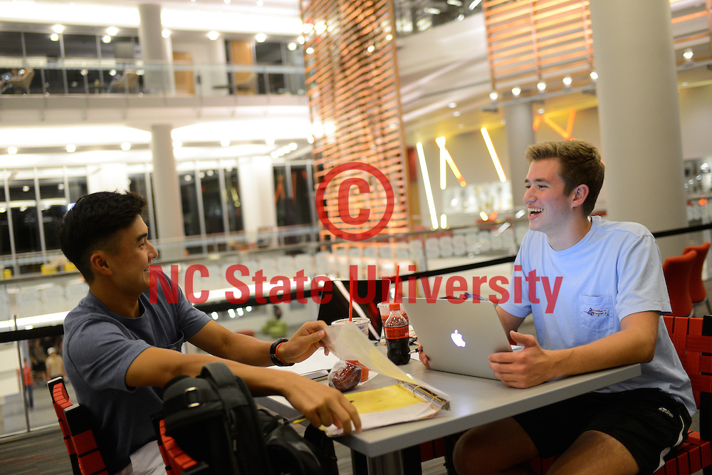 Students use the Talley Student Union. Photo by Marc Hall