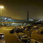 Tarmac by night in Paris Airport Charles de Gaulle