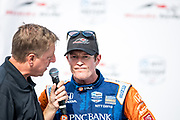Scott Dixon from New Zealand, Chip Ganassi Racing, Honda, podium, celebration, winner, INDY car race, TORONTO race in the  Streets of Toronto - Ontario, Canada,   Fee liable image, Copyright © ATP Marcel LANGER