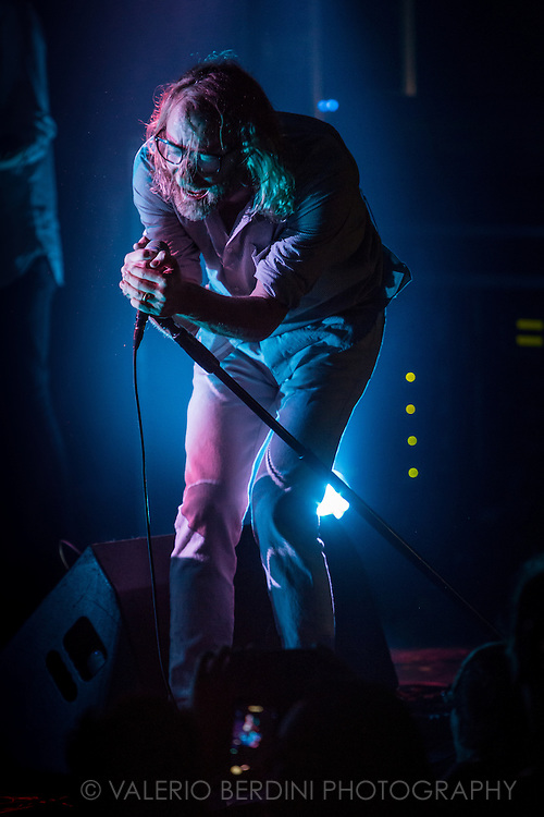 El Vy, the American band formed by Matt Berninger (also singer with the National) and Brent Knopf (previously with Menomena), played their UK live debut at the Electric Ballroom in Camden Town, London on 9 Dec 2015.<br /> <br /> This photo has been printed on Rolling Stone US edition in April 2016