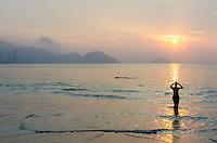 Sunrise swim at Copacabana Beach, Rio de Janeiro