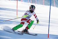 Piche Open Slalom at Gunstock.  U12 1st run.  ©2014 Karen Bobotas Photographer
