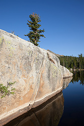 """""""Five Lakes 11"""" - Early morning photograph of one of the Five Lakes in the Tahoe area."""