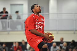 Bristol Flyers' Dwayne Lautier-Ogunleye - Photo mandatory by-line: Dougie Allward/JMP - Mobile: 07966 386802 - 10/01/2015 - SPORT - basketball - Bristol - SGS Wise Campus - Bristol Flyers v Leicester Riders - British Basketball League