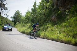 Alena Amialiusik (BLR) of CANYON//SRAM Racing starts the final descent during the Giro Rosa 2016 - Stage 7. A 21.9 km individual time trial from Albisola to Varazze, Italy on July 8th 2016.