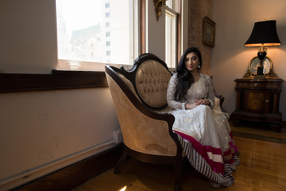 Shama Hyder portraits in Dallas, Texas on April 21, 2016. (Cooper Neill)