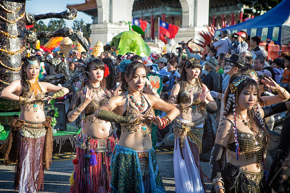 Performers at the Dream Parade, Taiwan.