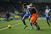 Brighton & Hove Albion central defender Connor Goldson (18) during the EFL Sky Bet Championship match between Brighton and Hove Albion and Sheffield Wednesday at the American Express Community Stadium, Brighton and Hove, England on 20 January 2017.
