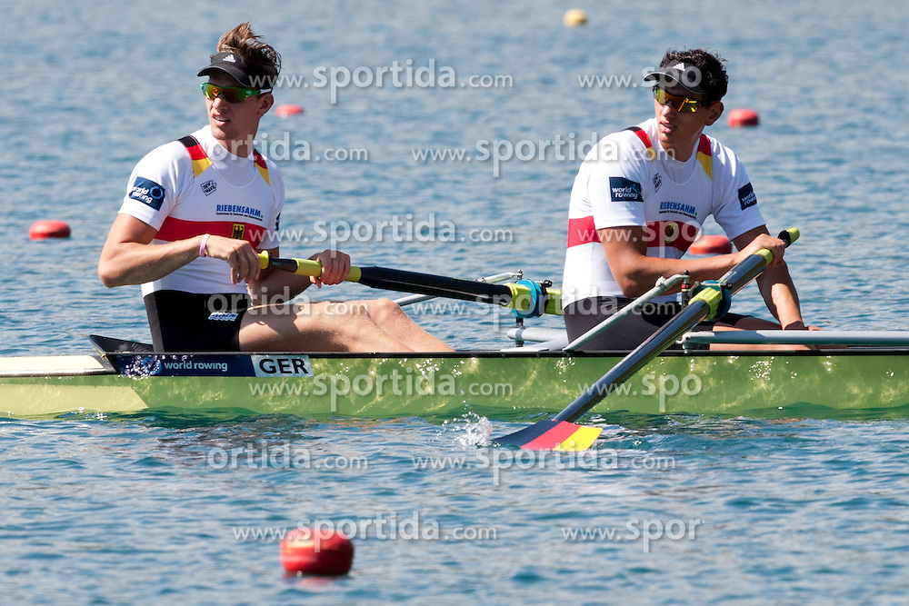 MUNSKI Maximilian and DRAHOTTA Felix of Germany during Men's Pair at Rowing World Championships Bled 2011 on September 3, 2011, in Bled, Slovenia. (Photo by Matic Klansek Velej / Sportida)