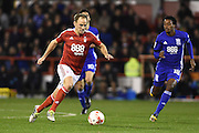 Man of the Match Nottingham Forest midfielder David Vaughan (24) during the EFL Sky Bet Championship match between Nottingham Forest and Birmingham City at the City Ground, Nottingham, England on 14 October 2016. Photo by Jon Hobley.