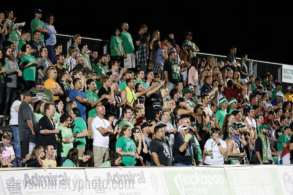 September 12, 2015: The OKC Energy FC plays the Colorado Springs Switchbacks FC in a USL game at Taft Stadium in Oklahoma City, Oklahoma.