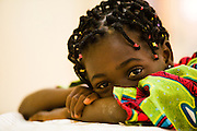 Young girl at the NDA health center in Dimbokro, Cote d'Ivoire on Friday June 19, 2009.