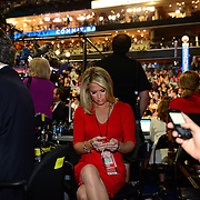 A journalist working from the floor of the 2012 Democratic Naitonal Convention (who is this??)