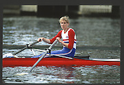 Henley, England,  GBR LW1X,  HOLMES 1990 Women's Henley Regatta, Henley Reach, River Thames Oxfordshire <br /> <br /> <br /> [Mandatory Credit; Peter Spurrier/Intersport-images] 1990 Henley Women's Regatta, Henley,
