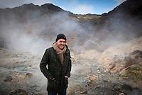 Sven Becker in Seltún, Reykjanes Peninsula, Iceland.