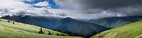 Hurricane Ridge Panoramic, Olympic National Park, Washington
