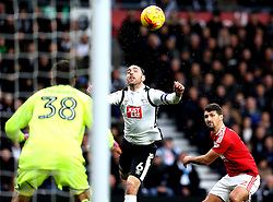 Richard Keogh of Derby County heads the ball towards goal - Mandatory by-line: Robbie Stephenson/JMP - 11/12/2016 - FOOTBALL - iPro Stadium - Derby, England - Derby County v Nottingham Forest - Sky Bet Championship