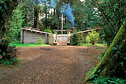 The entrance to Fort Clatsop (Lewis & Clark's 1805-1806 winter post), Fort Clatsop National Memorial, Astoria, Oregon