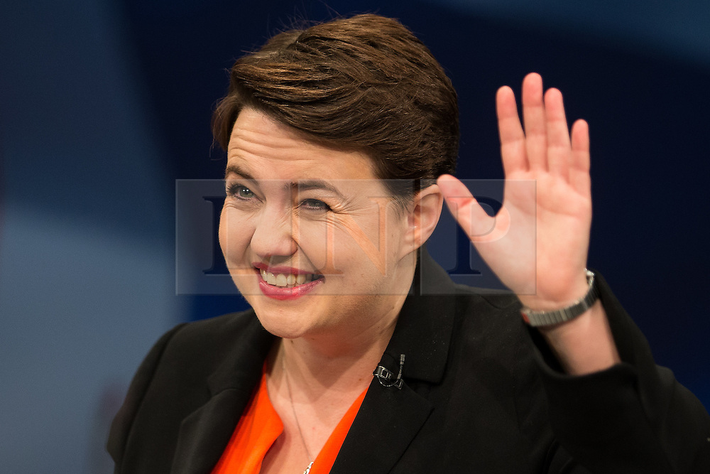 © Licensed to London News Pictures . 07/10/2015 . Manchester , UK . RUTH DAVIDSON speaks to the conference . The Conservative Party Conference at the Manchester Central Convention Centre . Photo credit : Joel Goodman/LNP