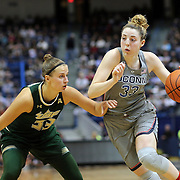 HARTFORD, CONNECTICUT- JANUARY 10: Katie Lou Samuelson #33 of the Connecticut Huskies drives past Kitija Laksa #33 of the South Florida Bulls during the the UConn Huskies Vs USF Bulls, NCAA Women's Basketball game on January 10th, 2017 at the XL Center, Hartford, Connecticut. (Photo by Tim Clayton/Corbis via Getty Images)