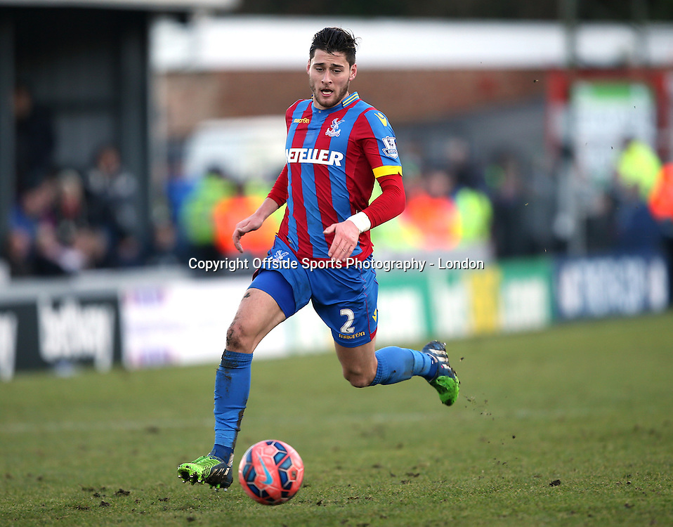 4 January 2015 FA Cup 3rd round - Dover Athletic v Crystal Palace ; Joel Ward of Palace.<br />  Photo: Mark Leech