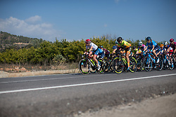 Clara Koppenburg (GER) of Cervélo-Bigla Cycling Team leads the peloton in the second lap of Stage 3 of the Setmana Ciclista Valenciana - a 137 km road race, between Sagunt and Valencia on February 24, 2018, in Valencia, Spain. (Photo by Balint Hamvas/Velofocus.com)