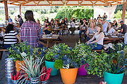 Content Magazine hosts its Flower & Garden Content Lab at Veggielution on Emma Prusch Farm Park in San Jose, California, on May 14, 2016. (Stan Olszewski/SOSKIphoto)