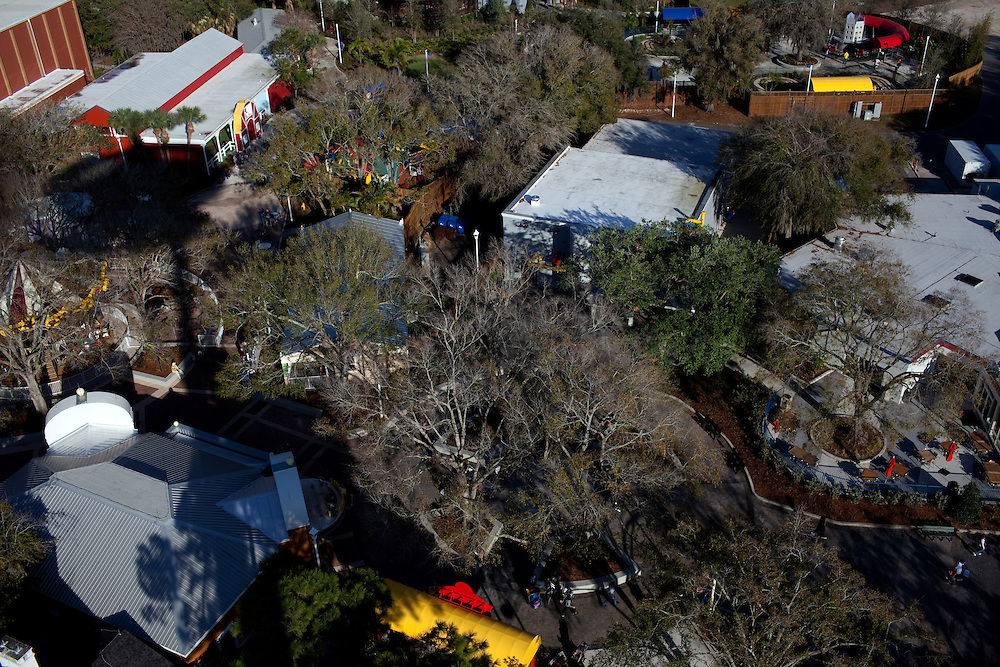 An aerial view of the new theme park Legoland from the Island in the Sky ride in Whitehaven, Florida on February 11, 2012.