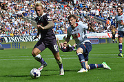 Johnny Russell breaks clear during the Sky Bet Championship match between Bolton Wanderers and Derby County at the Macron Stadium, Bolton, England on 8 August 2015. Photo by Mark Pollitt.