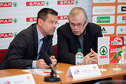 Igor Mervic of Spar Slovenia and Boris Majer at press conference before Finals of Spar Cup 2018, on January 31, 2018 in Ljubljana, Slovenia. Photo by Urban Urbanc / Sportida