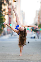 Streets of New York City Dance As Art Photography Project in Tribeca featuring dancer Ashtyn Muzio