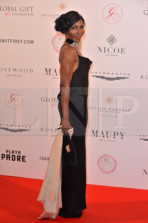 © Licensed to London News Pictures. 24/04/2018. London, UK. SINITTA attends The Global Gift Foundation Nelson Mandela Centenary Dinner at Rosewood London. Photo credit: Ray Tang/LNP