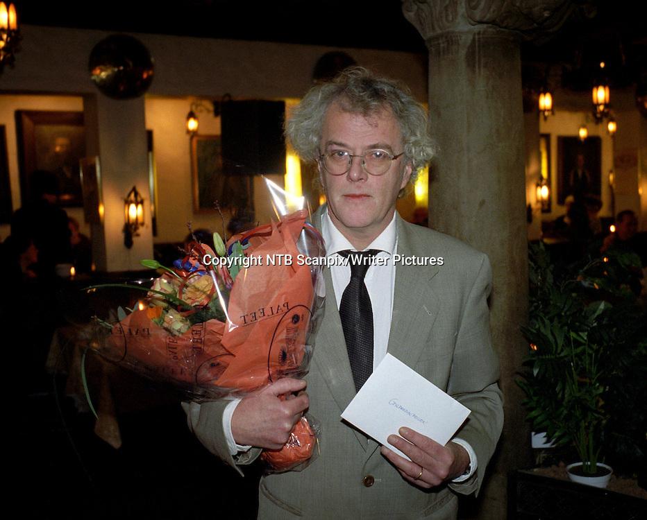 OSLO 19970129 Forfatteren Dag Solstad er tildelt Gyldendalprisen for sitt forfatterskap.<br /> Foto: Gunnar Lier / NTB Scanpix<br /> <br /> NTB Scanpix/Writer Pictures<br /> <br /> WORLD RIGHTS, DIRECT SALES ONLY, NO AGENCY