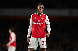 LONDON, ENGLAND - Thursday, December 5, 2019: Arsenal's Joe Willock spits during the FA Premier League match between Arsenal FC and Brighton & Hove Albion FC at the Emirates Stadium. (Pic by Vegard Grott/Propaganda)