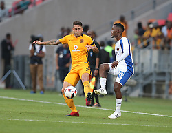 Daniel Antonio Cardoso of Kaizer Chiefs (L) and Tshwarelo Bereng of Chippa United during the 2016 Premier Soccer League match between Chippa United and Kaizer Chiefs held at the Nelson Mandela Bay Stadium in Port Elizabeth, South Africa on the 3rd December 2016.<br /> <br /> Photo by:   Richard Huggard / Real Time Images