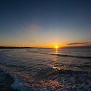 Today's  sunrise  at Narragansett Town Beach, Narragansett, RI,  June  4, 2013. #Sunrise #RhodeIsland #Beach #Surf #401