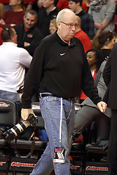 17 January 2015:   Photographer Bob Hunt during an NCAA MVC (Missouri Valley Conference men's basketball game between the Bradley Braves and the Illinois State Redbirds at Redbird Arena in Normal Illinois