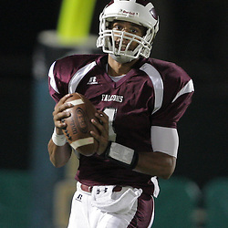 31 October, 2008: St. Thomas Aquinas DB/QB Raymone Andrews (#1) The St. Thomas Falcons recorded their first shut out of the season with a 41-0 shutout of the Southern Lab Kittens at Strawberry Stadium in Hammond, LA.