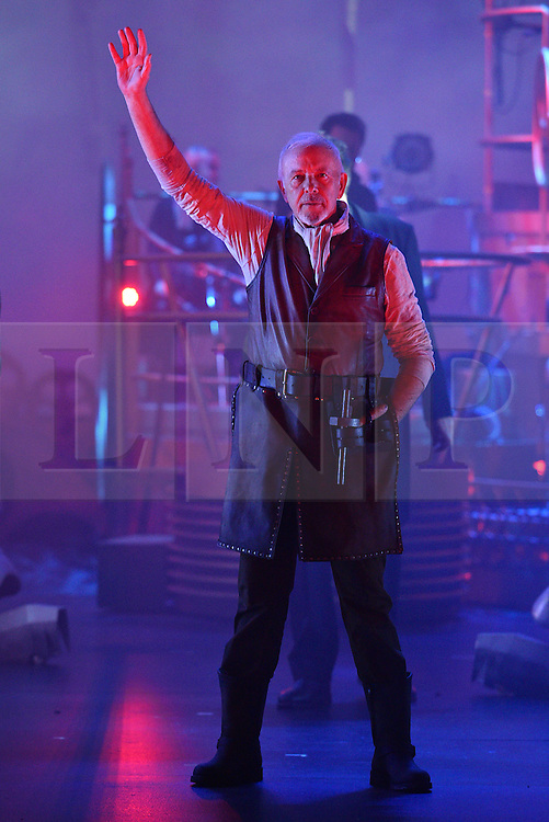 © Licensed to London News Pictures. 12/02/2016. © Licensed to London News Pictures. 12/02/2016. Cast members DAVID ESSEX appears in costume for a photocall for H.G Wells classic War Of The Wells at the Dominion Theatre.  London, UK. Photo credit: Ray Tang/LNP