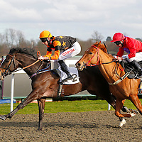 Welsh Sunrise and George Baker winning the 2.00 race