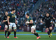 JOHANNESBURG, South Africa, 25 July 2015 : Richie McCaw (C) of the All Blacks is blocked by Francois Louw of the Springboks in trying to get to Jesse Kriel during the Castle Lager Rugby Championship test match between SOUTH AFRICA and NEW ZEALAND at Emirates Airline Park in Johannesburg, South Africa on 25 July 2015. Bokke 20 - 27 All Blacks<br /> <br /> © Anton de Villiers / SASPA