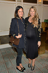 Left to right, VIOLET VON WESTENHOLZ and SADIE MANTOVANI at the 3rd annual Gynaecological Cancer Fund Ladies Lunch at Fortnum & Mason, 181 Piccadilly, London on 29th September 2016.
