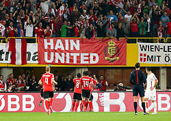 12.10.2014, Ernst Happel Stadion, Wien, AUT, UEFA Euro 2016 Qualifikation, Oesterreich vs Montenegro, Gruppe G, im Bild Torjubel // during the UEFA EURO 2016 qualifier group G match between Austria and Montenegro at the Ernst Happel Stadion, Vienna, Austria on 2014/10/12. EXPA Pictures © 2014, PhotoCredit: EXPA/ Alexander Forst