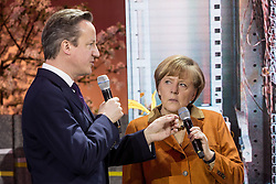 61191853<br /> Chancellor Angela Merkel and David Cameron during CeBIT 2014 Technology Trade Fair, Hanover, Germany, Monday, 10th March 2014. Picture by  imago / i-Images<br /> UK ONLY